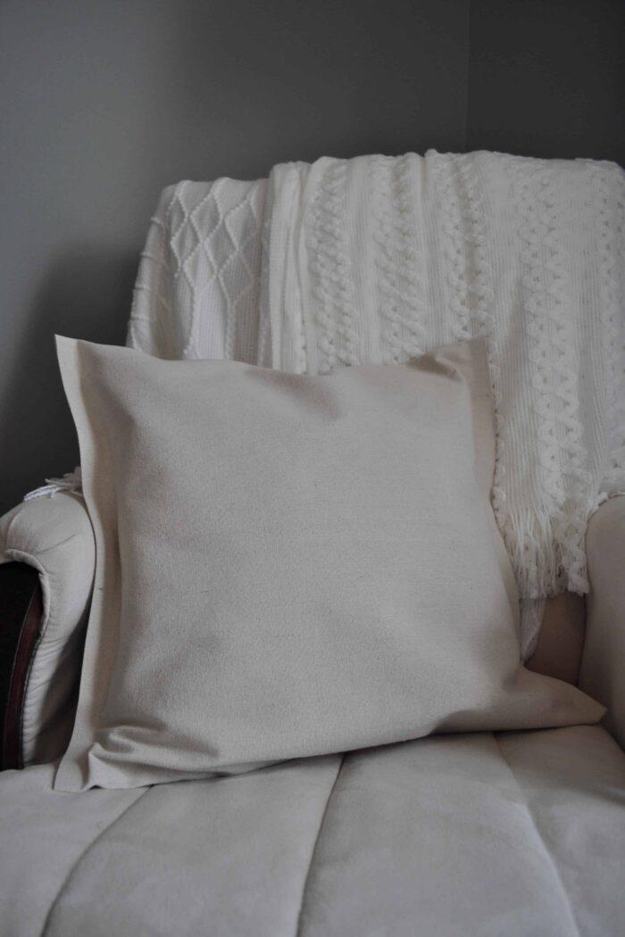 No Sew Drop Cloth Pillow