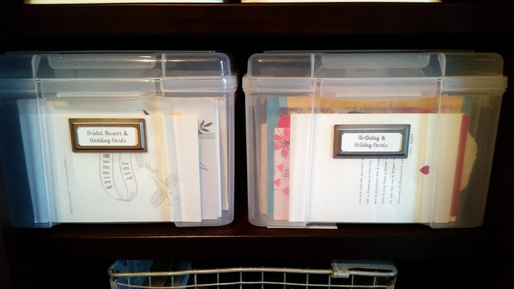 Organize Greeting Cards