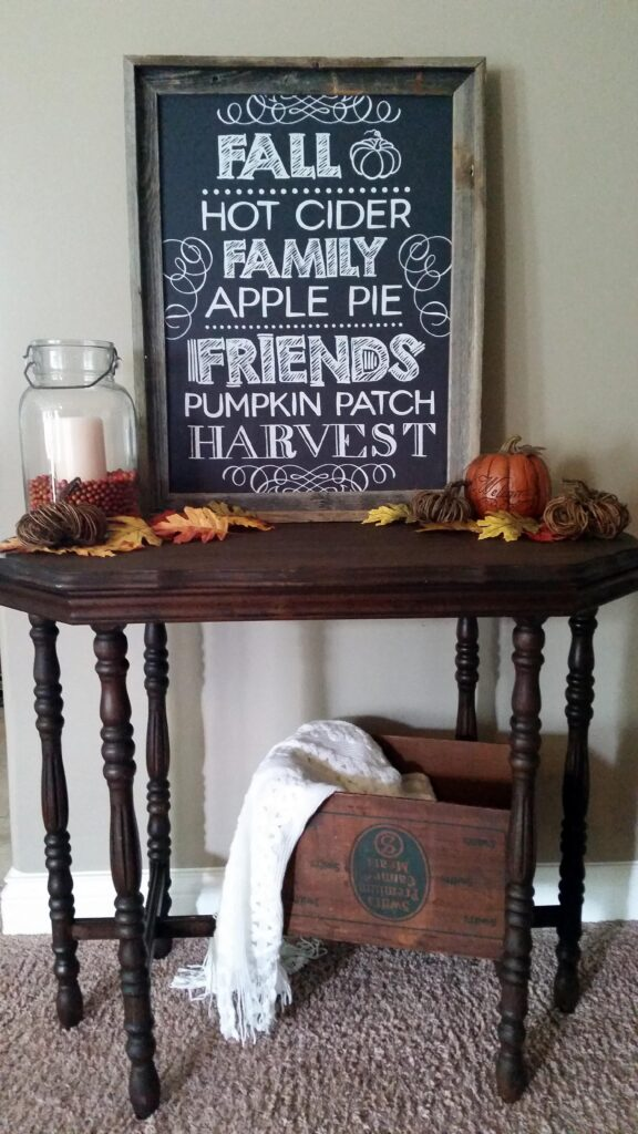 Fall Tea Towel Art