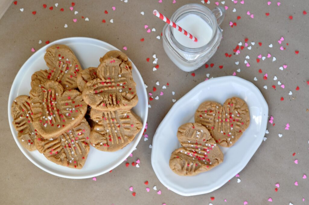 Valentines Day Peanut Butter Cookies