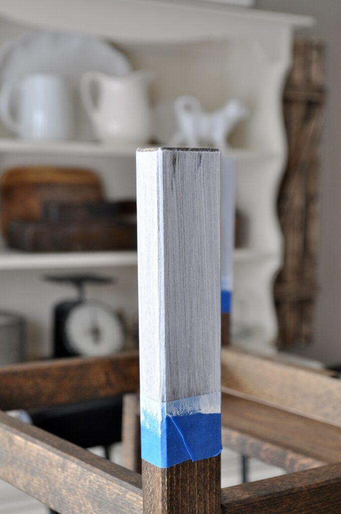 Paint Dipped Ikea Stool