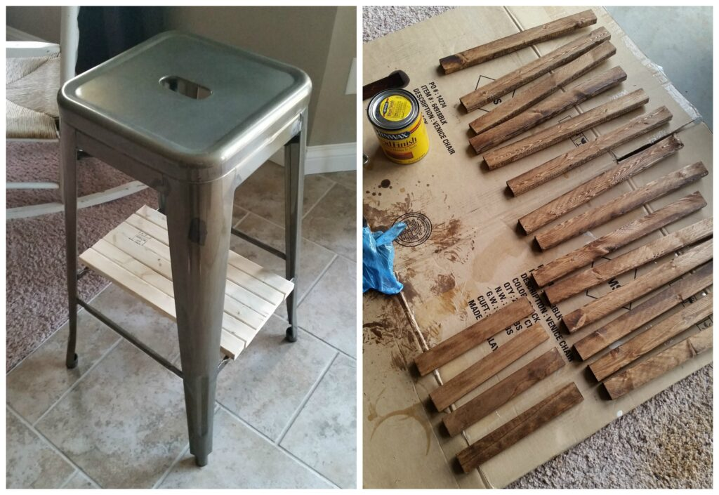 Industrial Stool Nightstands