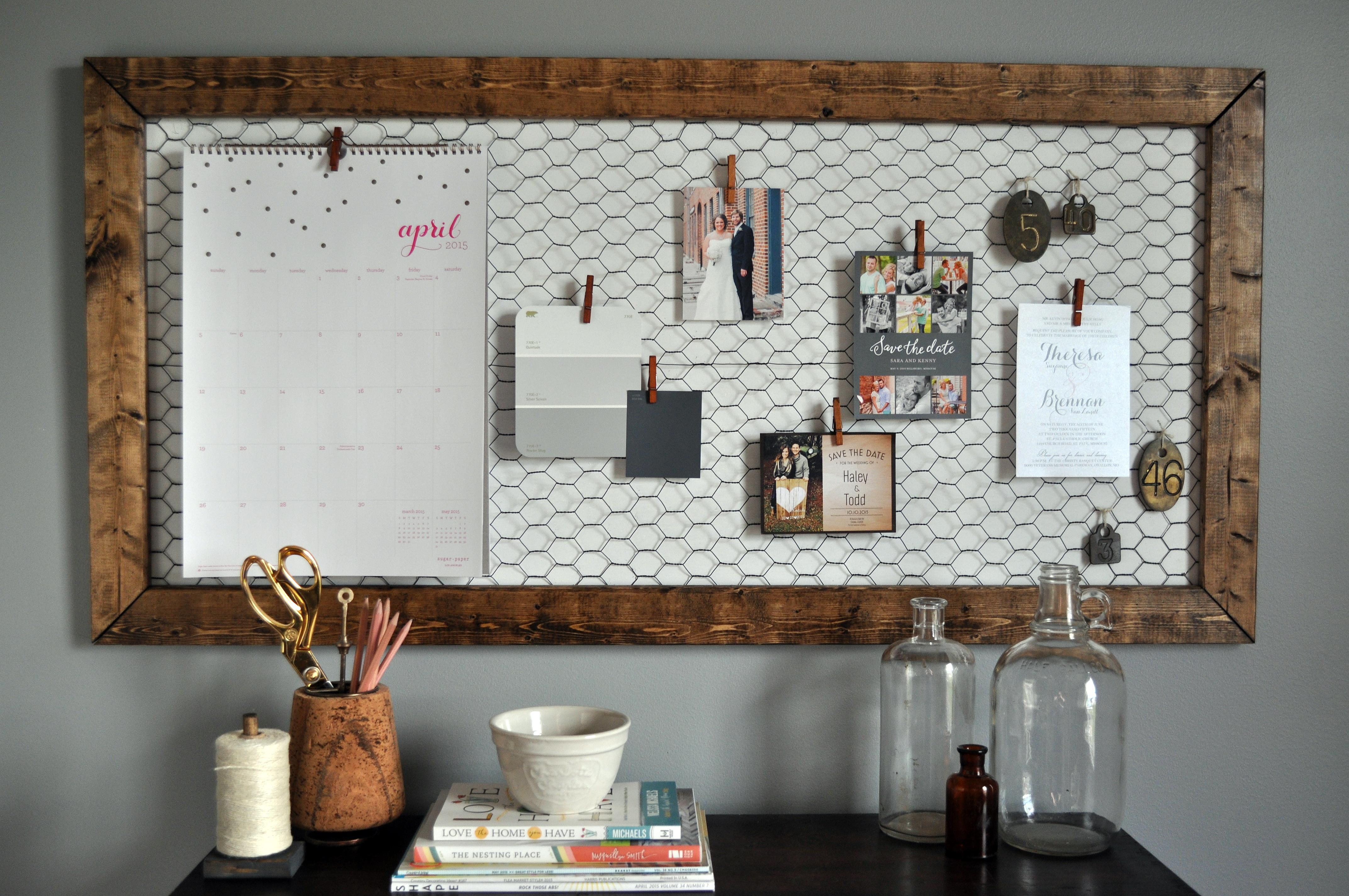 Office memo board little glass jar for Diy cork board