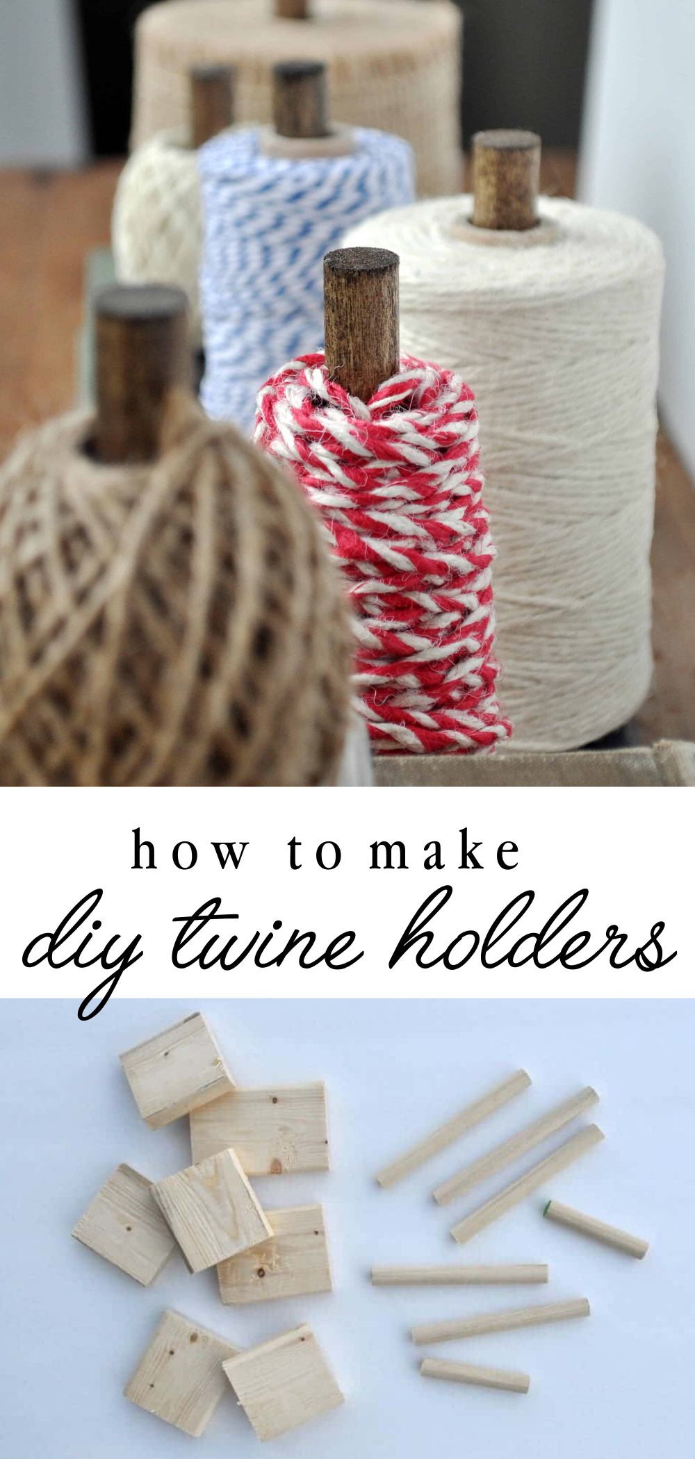 how to make diy twine holders