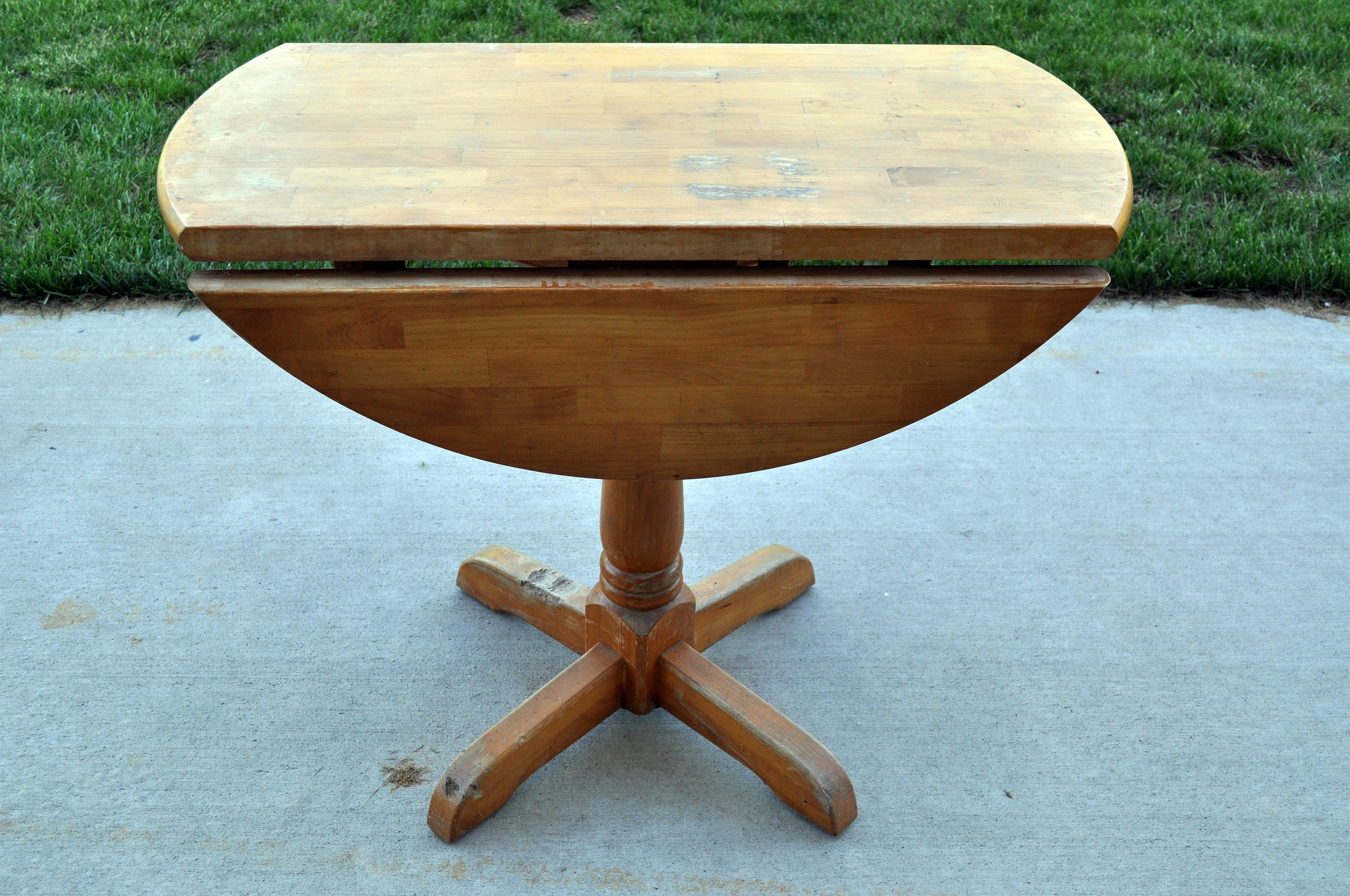Ordinaire Drop Leaf Table. I Did My Usual Routine. I Sanded It First, Then Painted  It, Then I Sanded The Corners For The Antique Look. The Best Part Is, ...