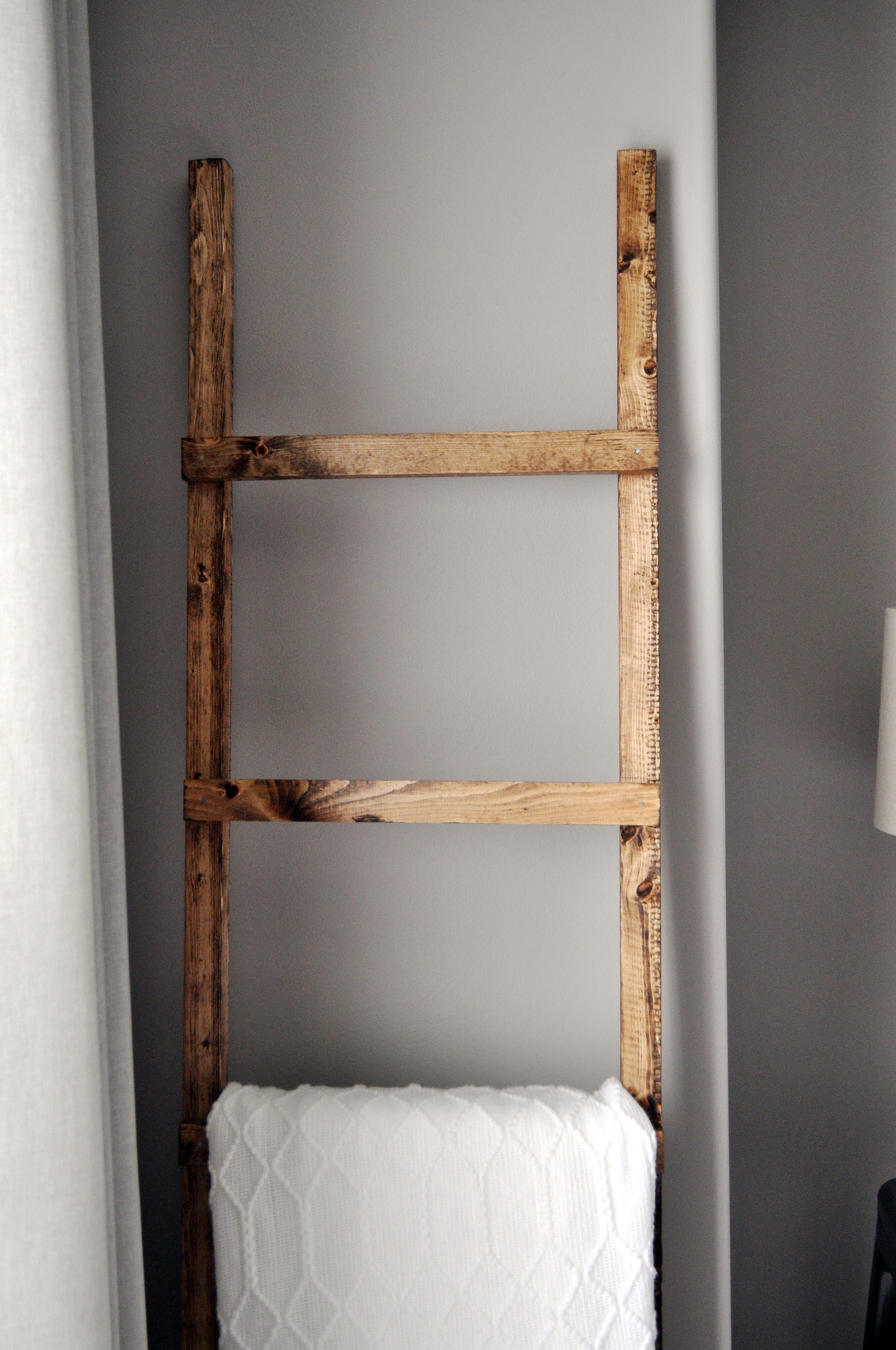 Diy Blanket Ladder Rustic Blanket Ladder Little Glass Jar