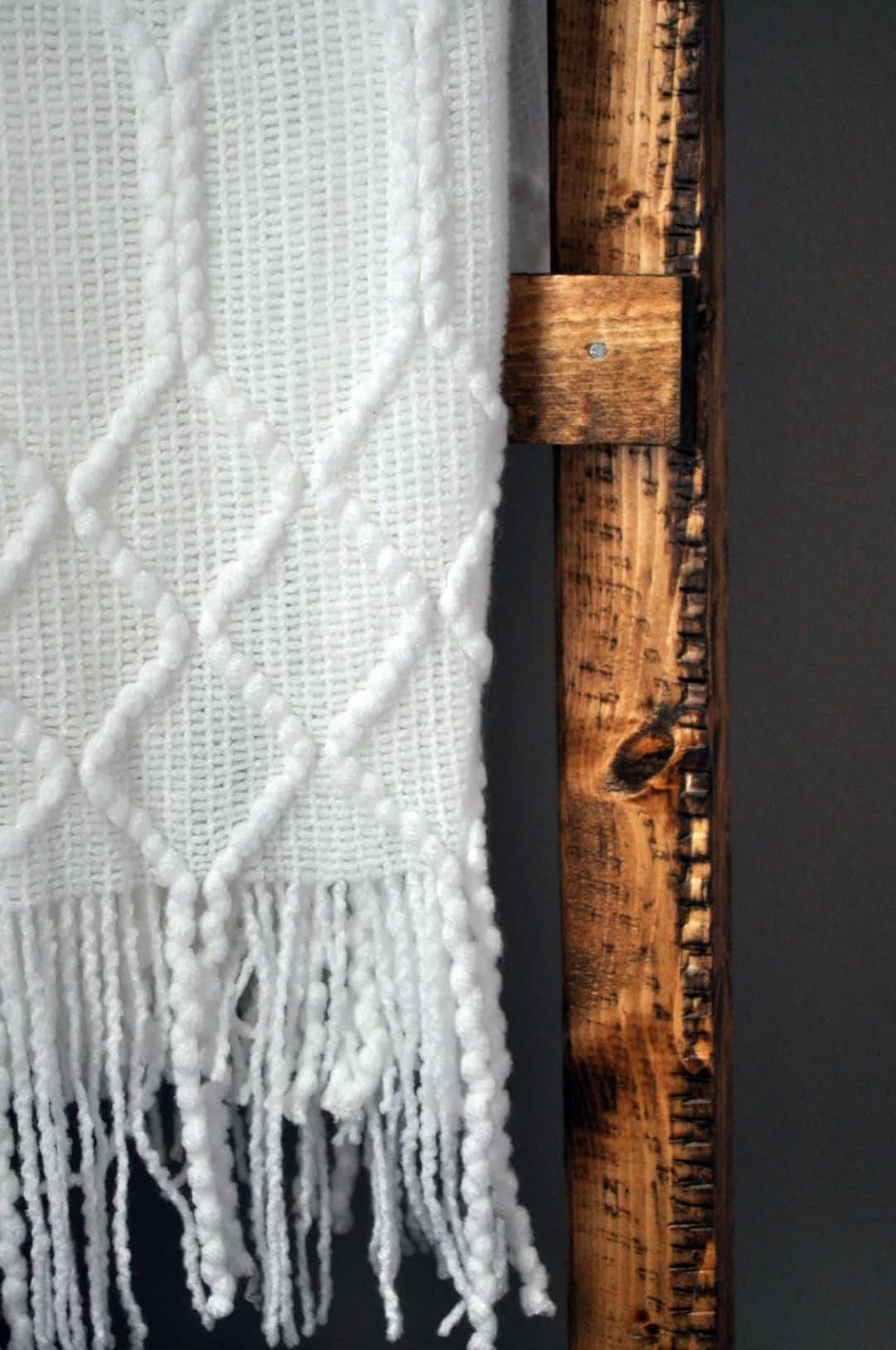 Rustic Blanket Ladder Little Glass Jar
