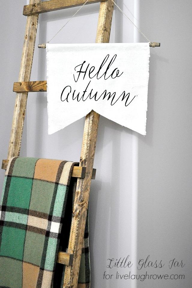 DIY Autumn Banner. Simple DIY Fall Banner