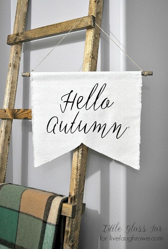DIY Autumn Banner. Vertical Pin