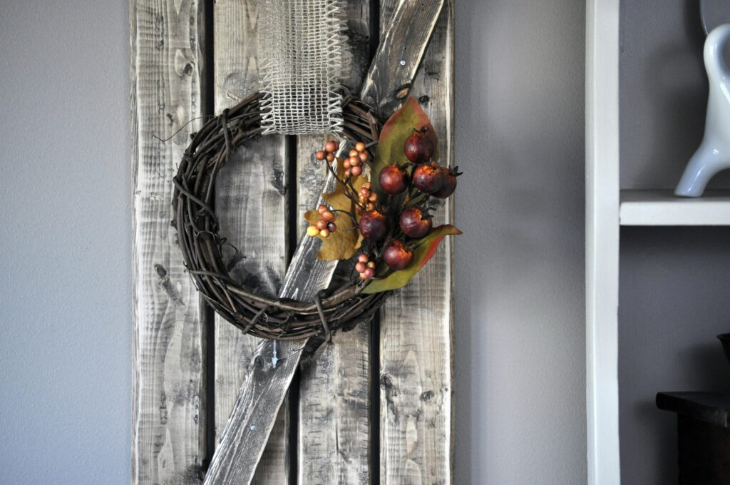 DIY Fall Mini Wreath. 1