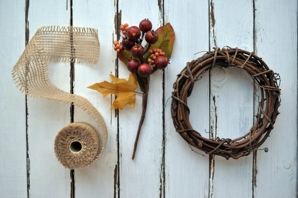 DIY Fall Mini Wreath. 4