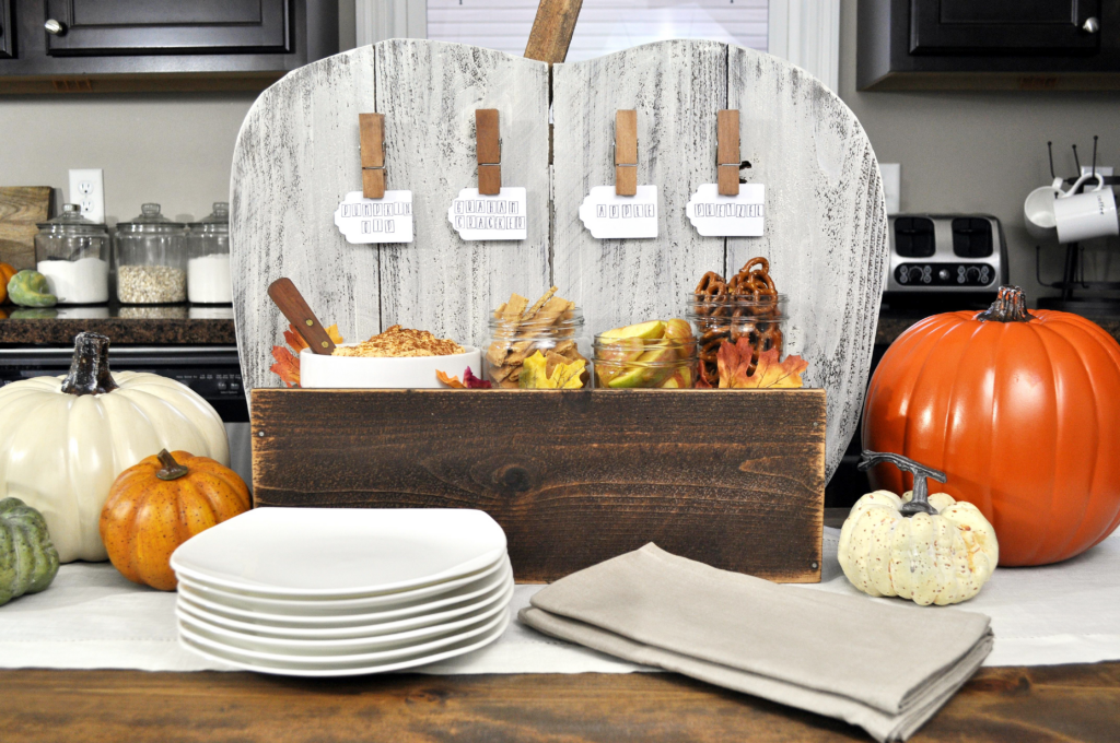 DIY Pumpkin Serving Stand. Five
