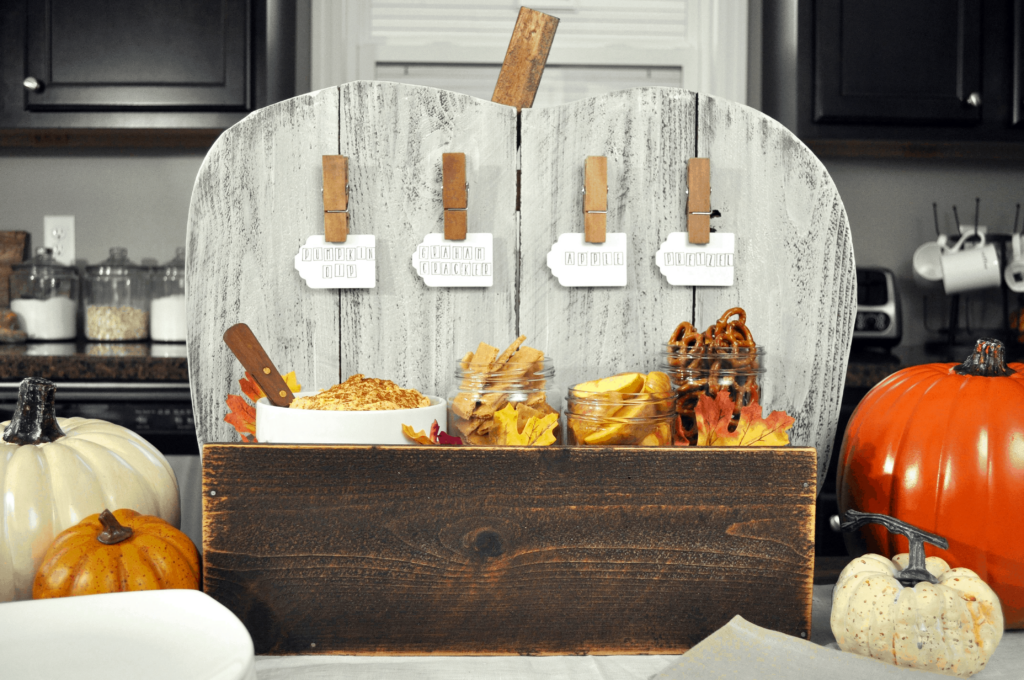 DIY Pumpkin Serving Stand. One