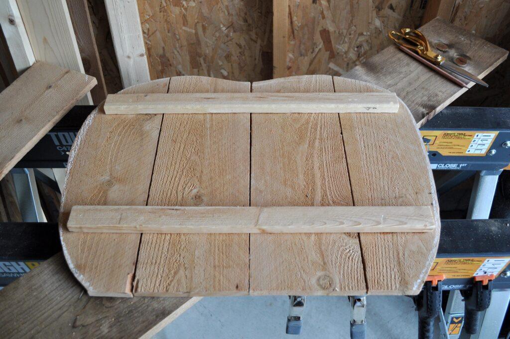 DIY Rustic Pumpkin Serving Stand. Wood Cut