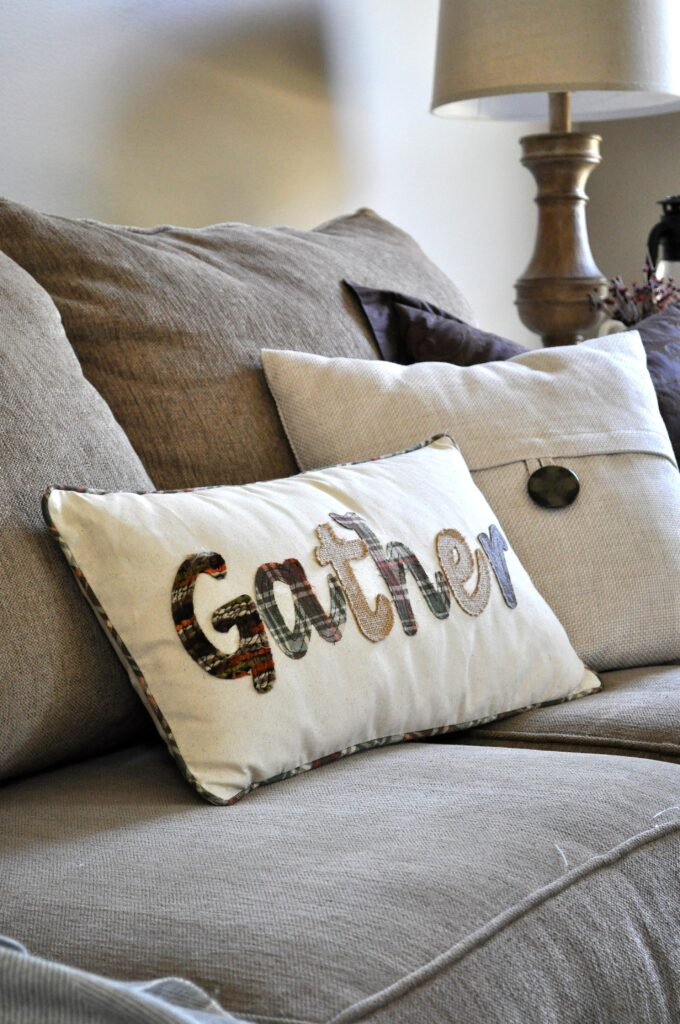 Farmhouse Fall Tour of Homes. Gather Pillow.