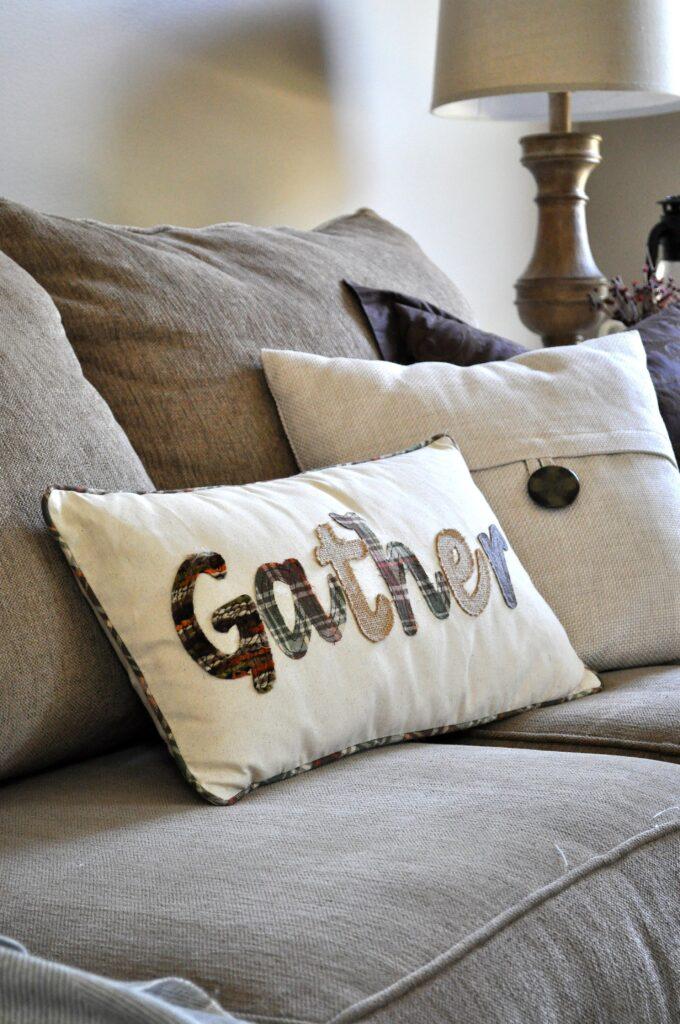 Farmhouse Fall Tour of Homes. Gather Pillow.