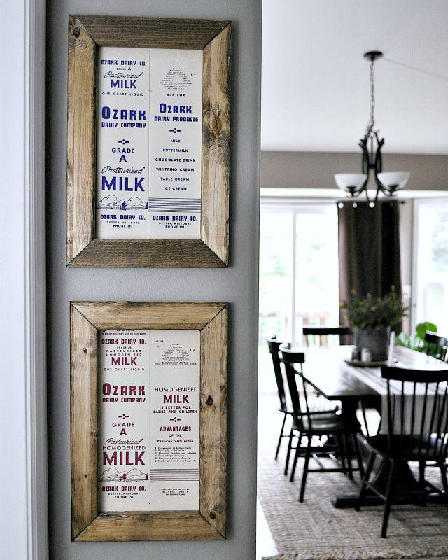 Milk Carton Art. Simple DIY Art