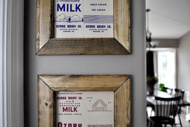 Milk Carton Art. Super easy wall art