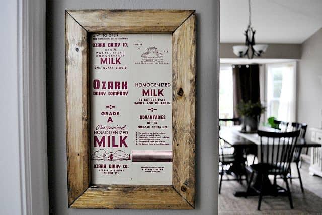 Milk Carton Art - Little Glass Jar