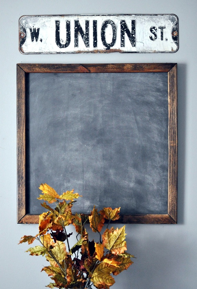 DIY Office Chalkboard. Simple Chalkboard Tutorial