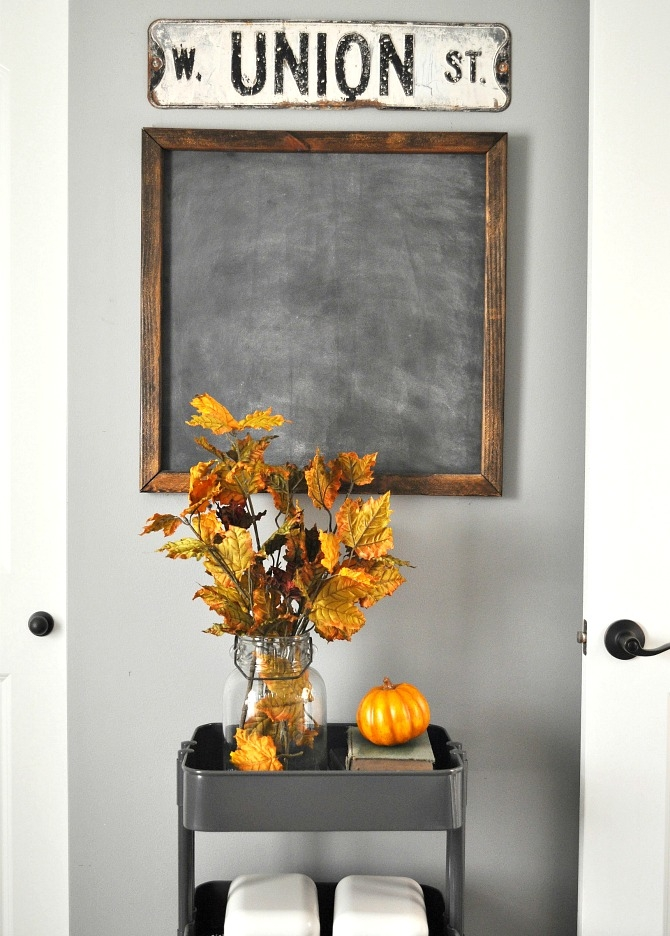 DIY Office Chalkboard. Tutorial for Chalkboard