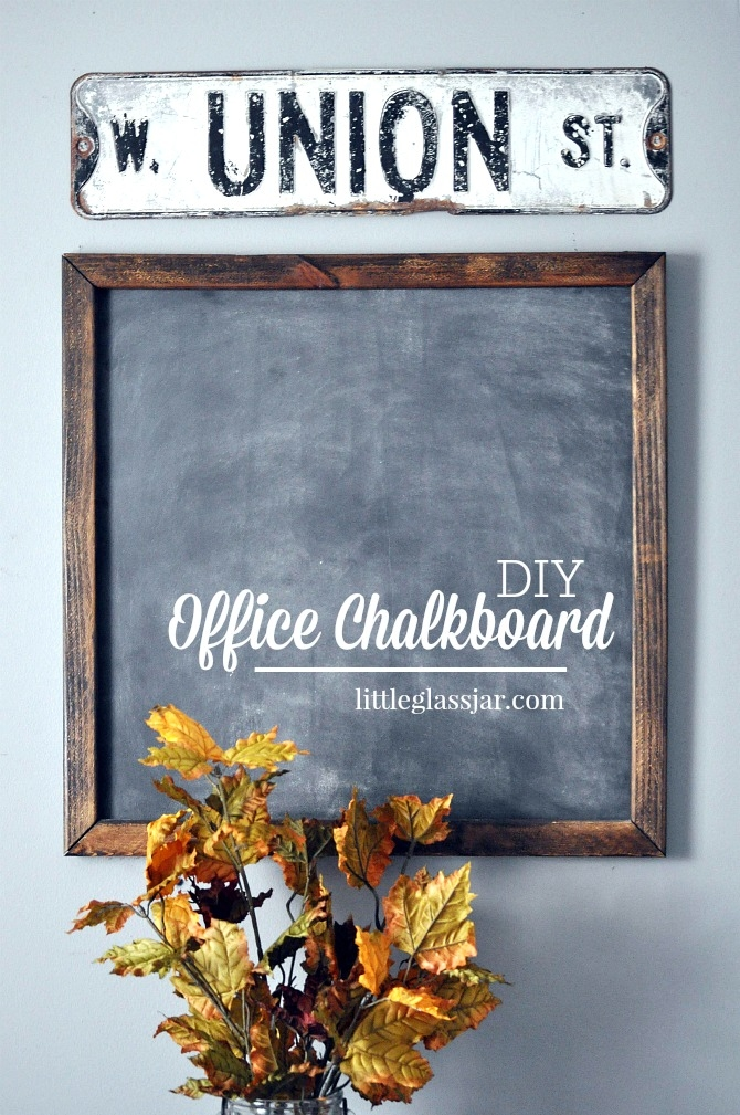 DIY Office Chalkboard. Vertical Pin