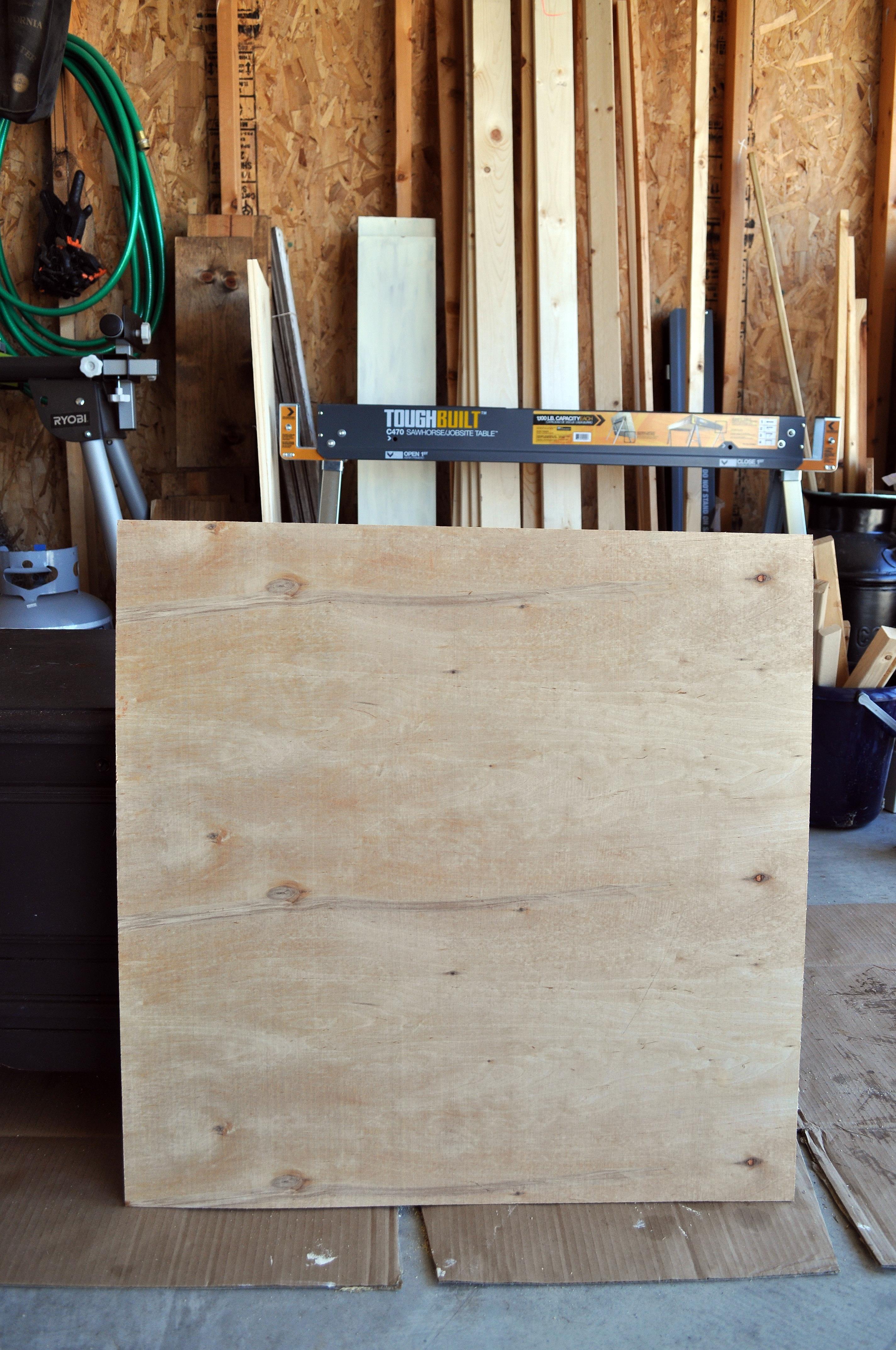 DIY Office Chalkboard. Wood Board