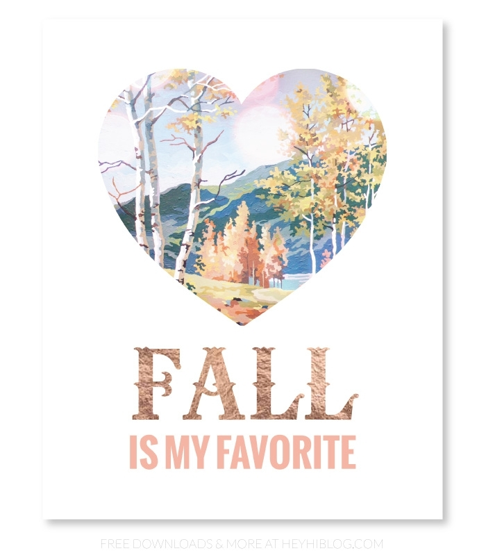 Six Free Fall Printables.