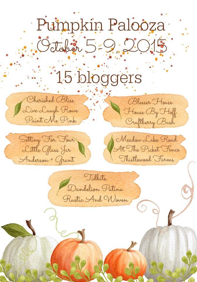 Pumpkin Palooza Bloggers