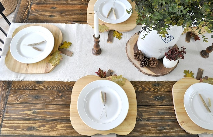 Pumpkin Plate Chargers. Tablescape