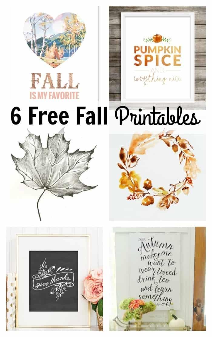 6 Free Fall Printables