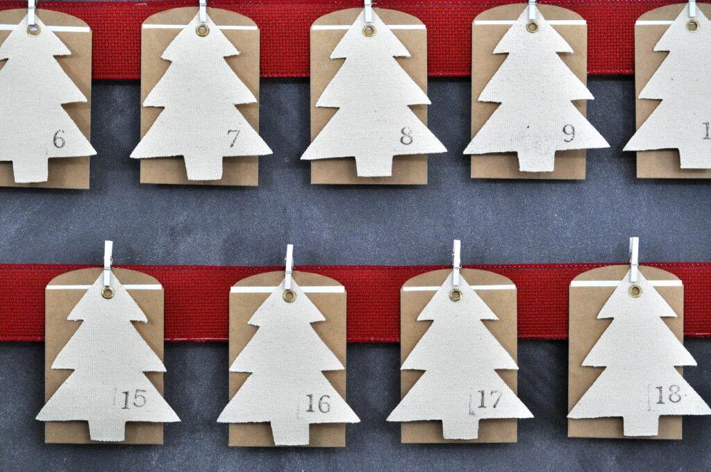 Advent Calendar 2015. Rustic DIY Advent Calendar