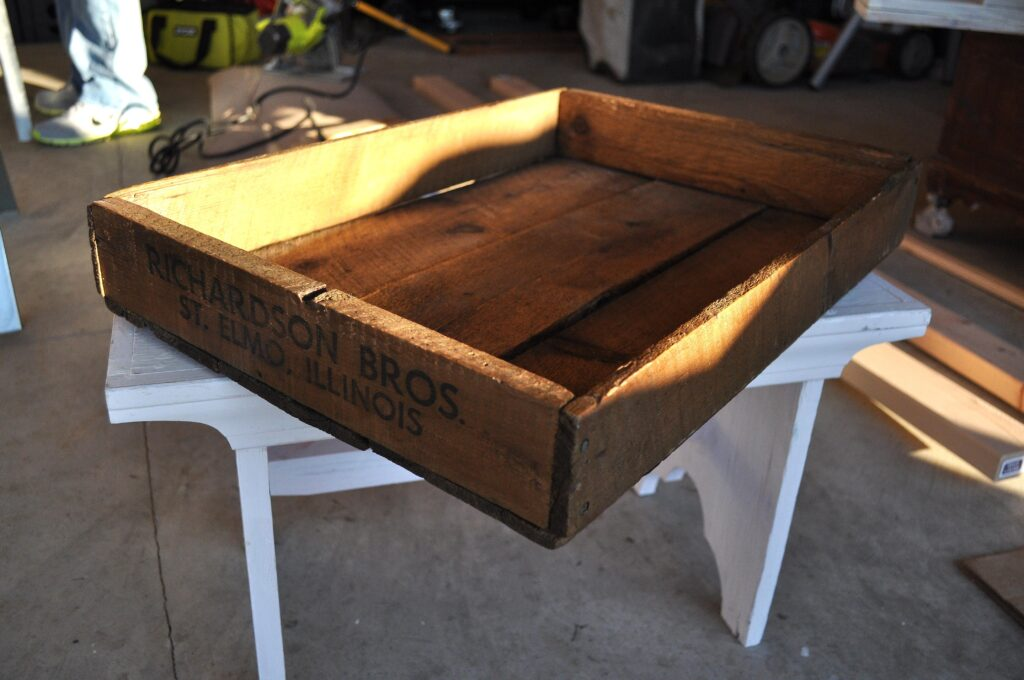 Create Serving Tray. Wood Crate