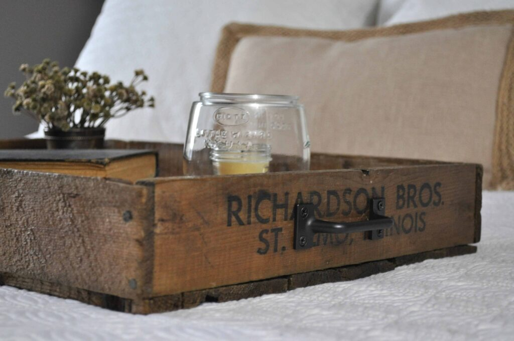 Create Serving Tray. Wooden Crate Tray