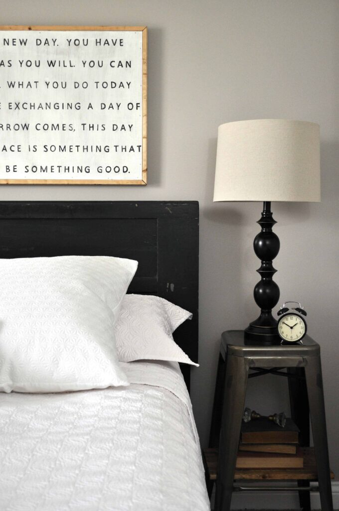 Vintage Door Headboard. Easy DIY Headboard