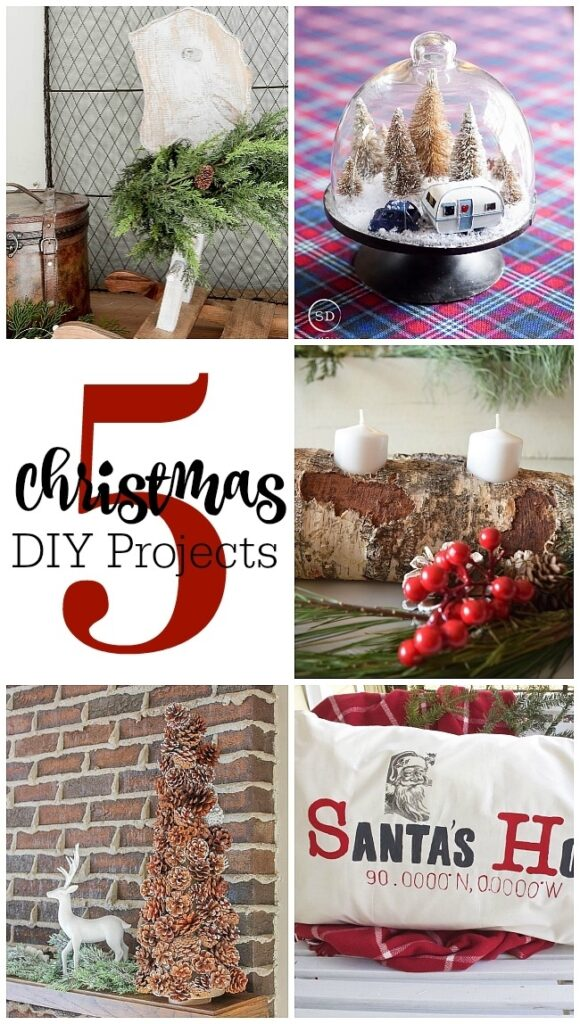 5 Christmas DIY Projects. Collage