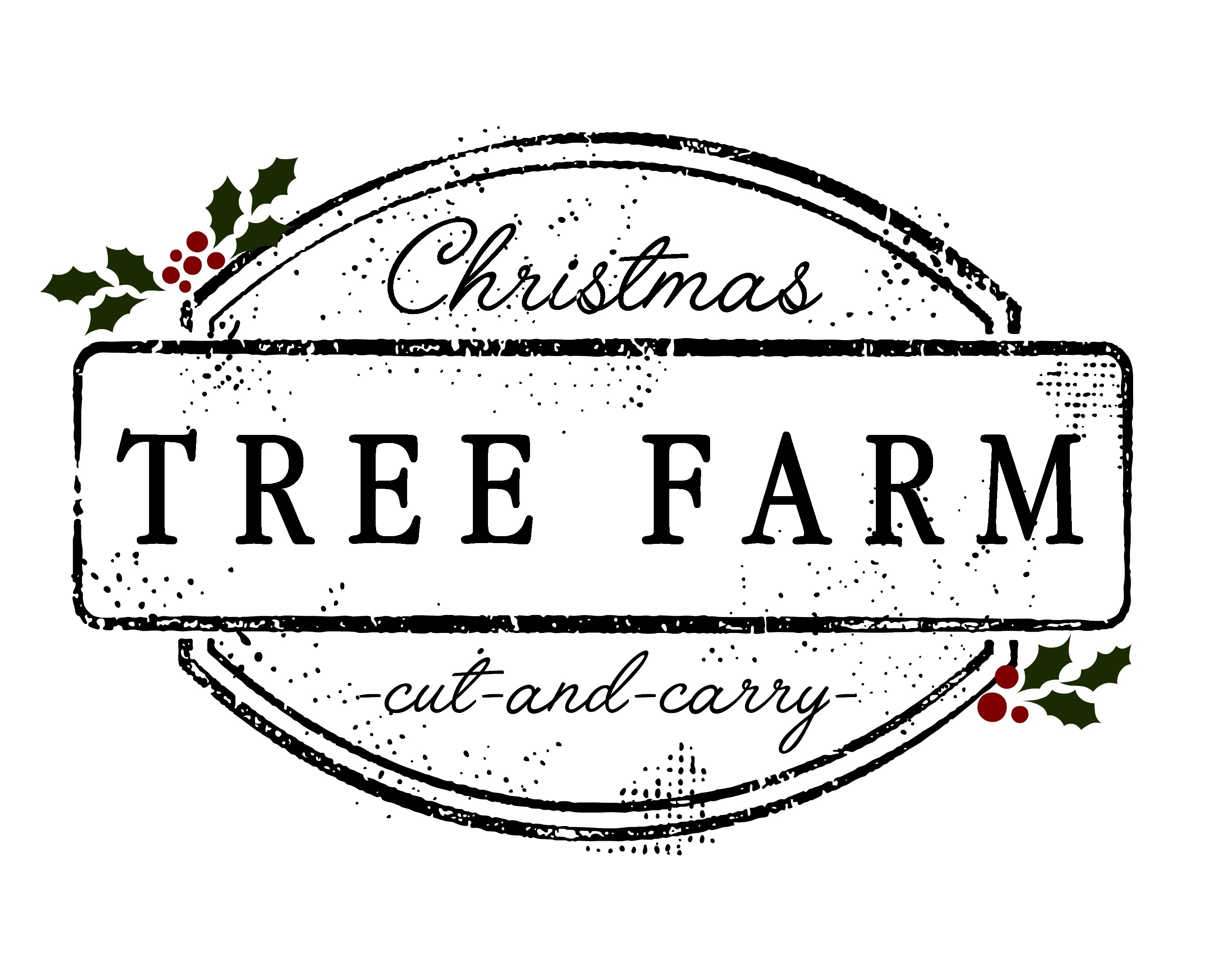 Christmas Tree Farm Printable - Little Glass Jar
