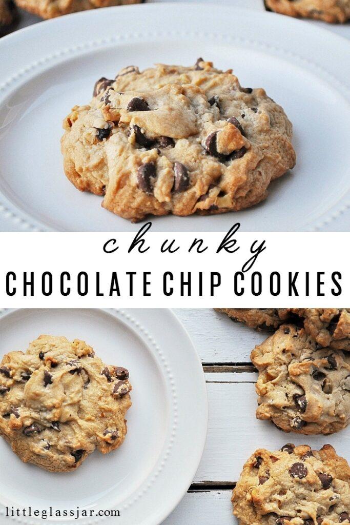 Chunky Chocolate Chip Cookies. Pin
