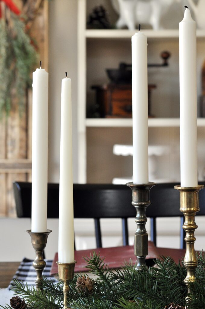 Farmhouse Christmas Home Tour. Candlesticks