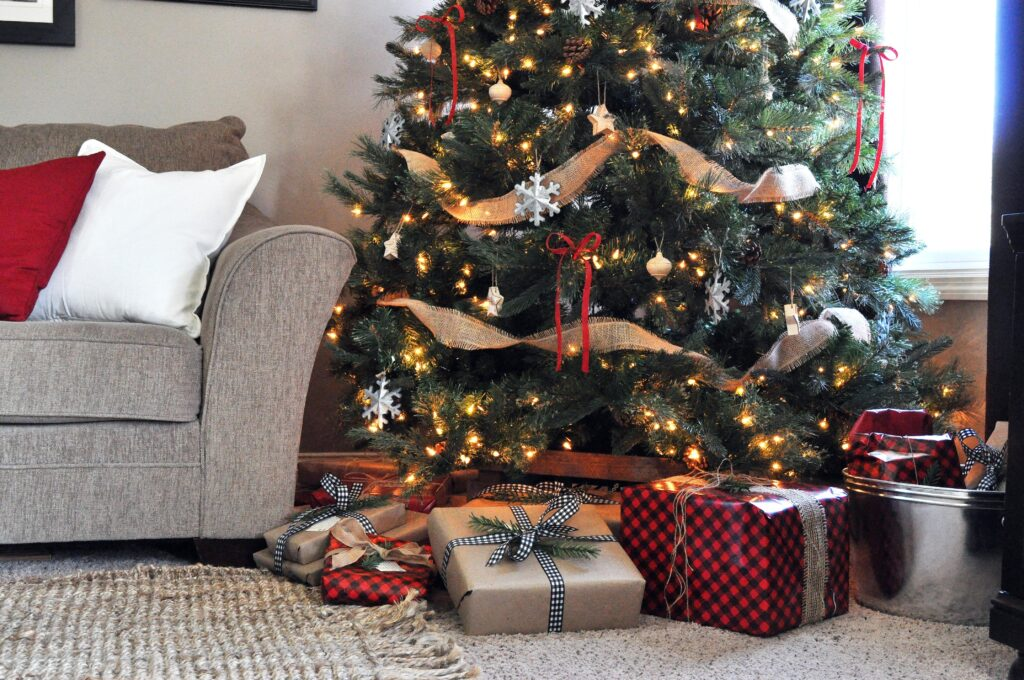 Farmhouse Christmas Home Tour. Christmas Tree