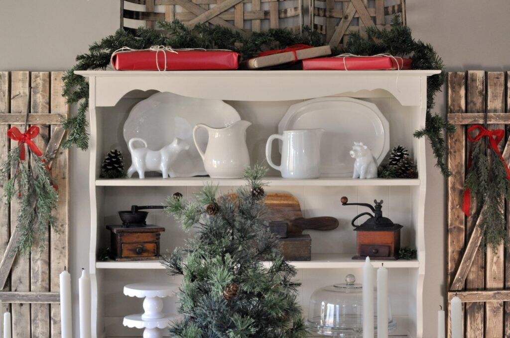 Farmhouse Christmas Home Tour. Hutch