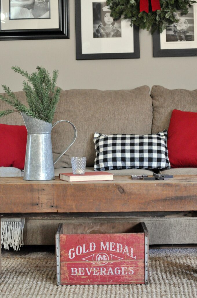 Farmhouse Christmas Home Tour. Living room Christmas decor