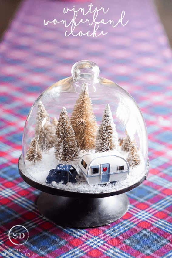 Simply Design_DIY Winter Wonderland Cloche