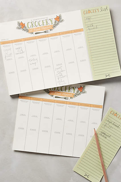 Anthropologie. Grocery List