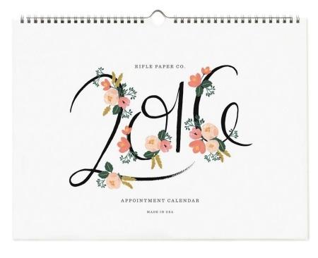 Rifle Paper. Wall Calendar