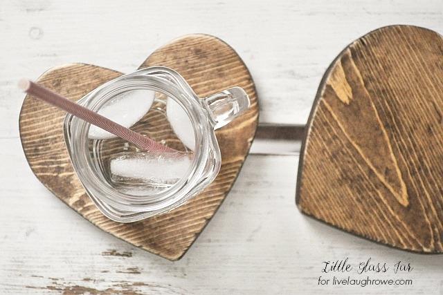 Rustic Heart Coasters. DIY Wood Coasters
