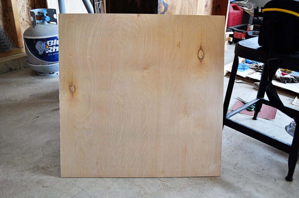 DIY Planked Clock.Plywood