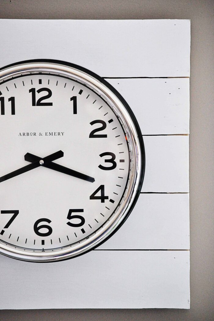 Planked Clock