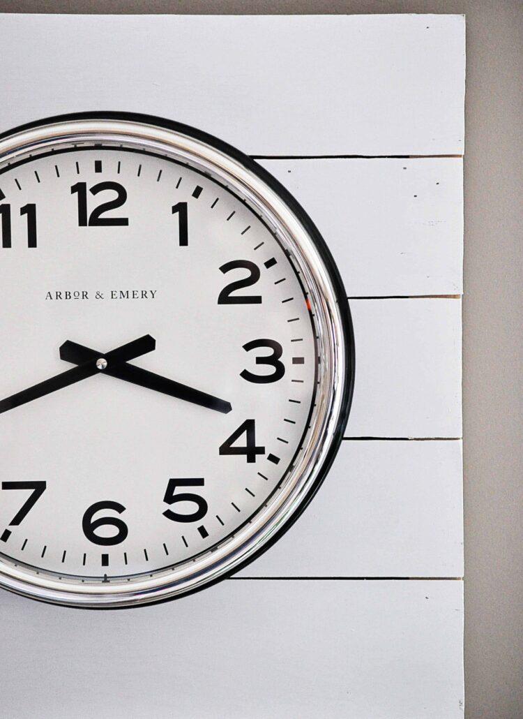 DIY Planked Clock