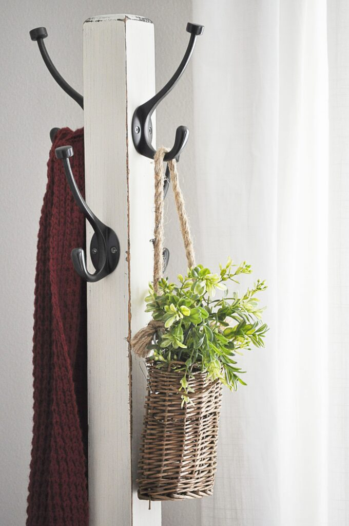 Guest Bedroom. Coat Rack Greenery